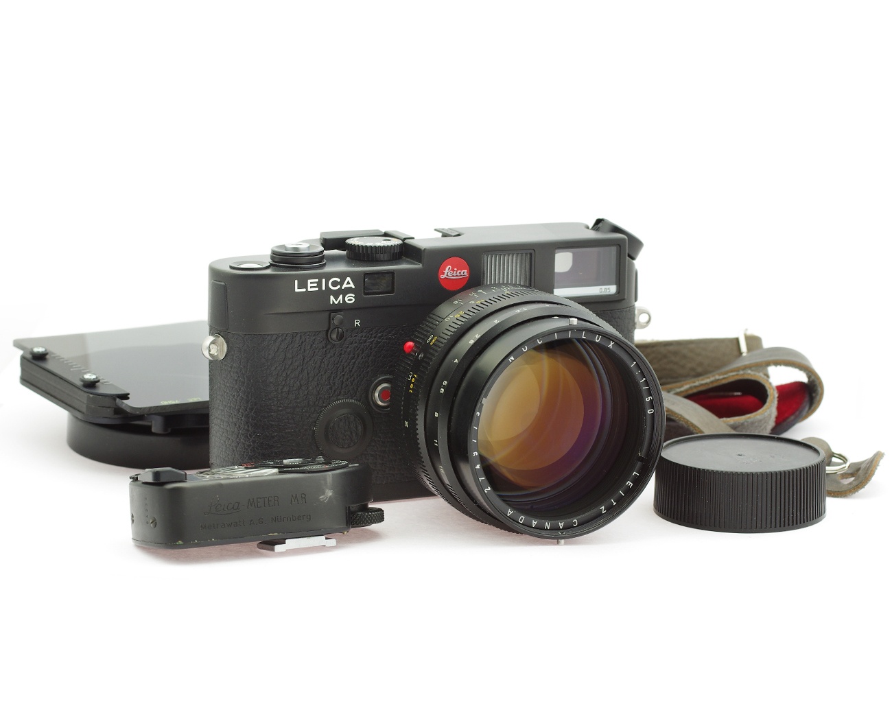 Leica M6 Camera Black TTL 0 85 with Noctilux 1/50 mm Lens