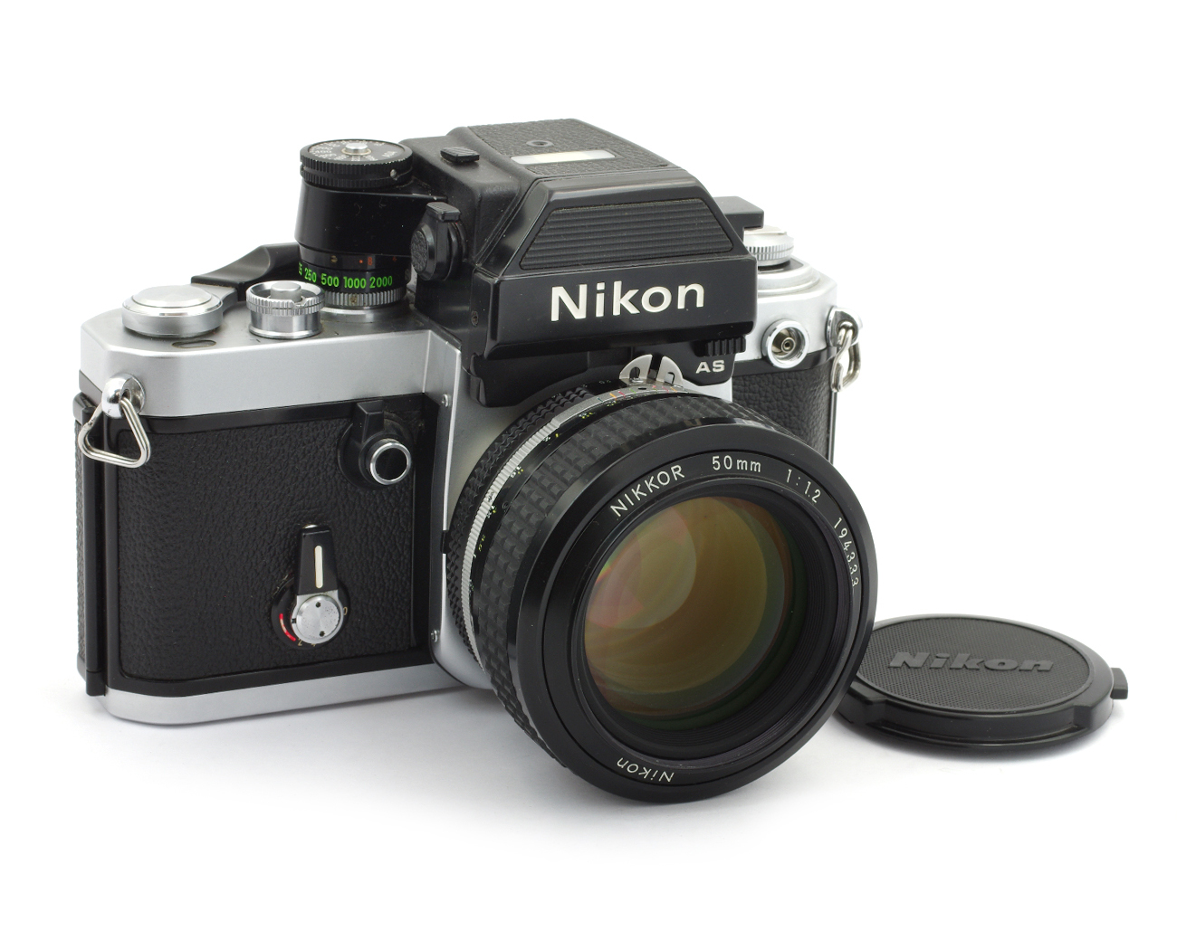 Nikon F2 AS Photomic 35mm Film Camera #7815170 with Nikkor 1.2/50 mm